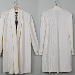 Just in! New St. John White Long Cardigan Jacket